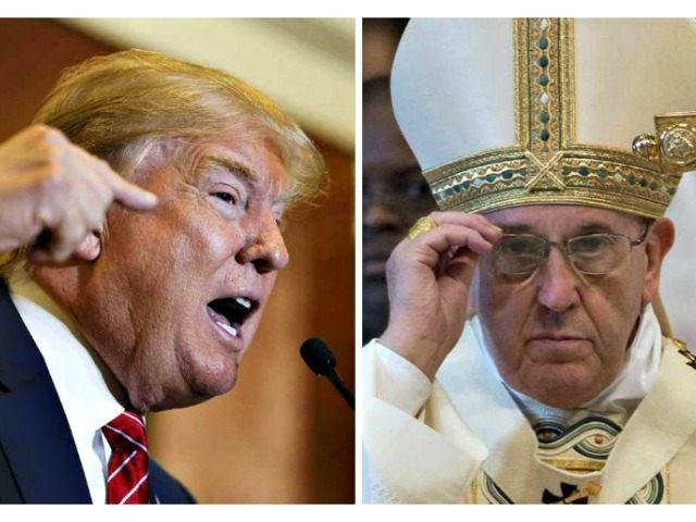 Trump and Pope AP Photos