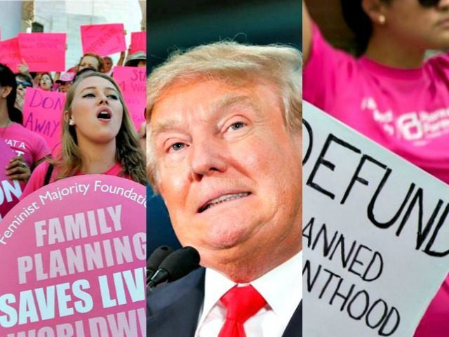 Trump for and against PP AP Photos