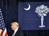 Trump in SC Flag Palm Tree