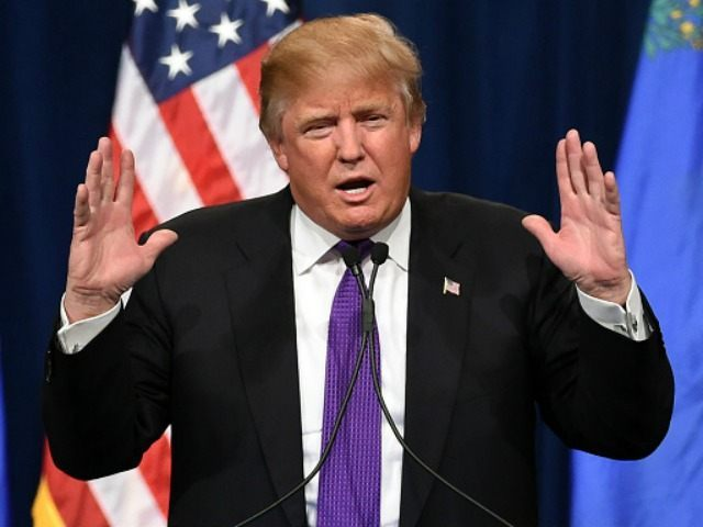 Republican presidential candidate Donald Trump February 23, 2016 in Las Vegas, Nevada.