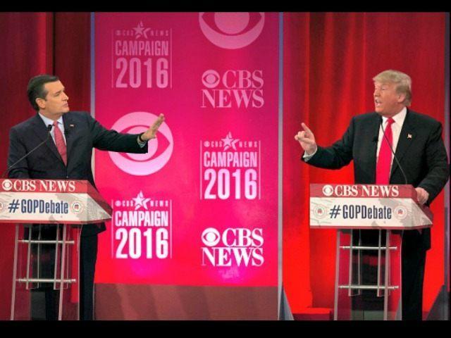 Trump vs Cruz SC Debate Jim Watson Getty