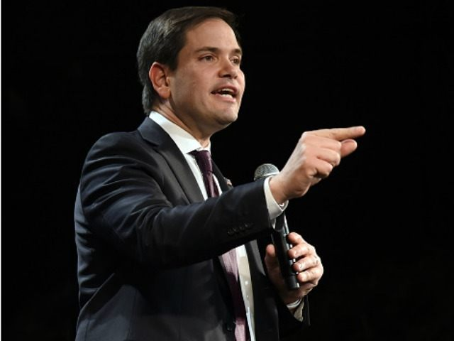 Republican presidential candidate Sen. Marco Rubio (R-FL) speaks at a rally at the Texas Station Gambling Hall & Hotel on February 21, 2016 in North Las Vegas, Nevada.