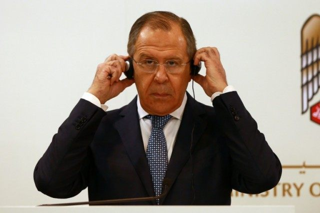 Russian Foreign Minister Sergei Lavrov says his country has a peace proposal for Syria
