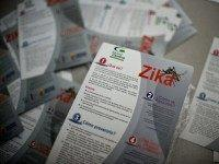 Brochures with information about the Zika virus are seen on February 10, 2016, in Cali, Colombia