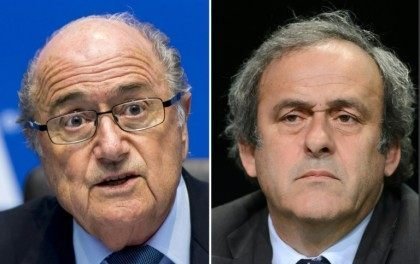 A FIFA appeals committee has reduced the bans against Sepp Blatter (L) and Michel Platini from eight to six years