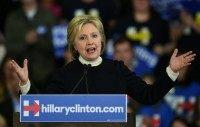 Democratic presidential hopeful Hillary Clinton speaks on February 9, 2016 at Southern New Hampshire University in Hooksett