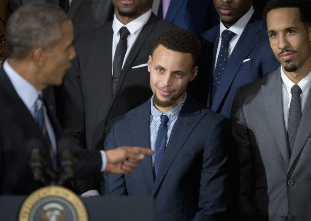 Barack Obama, Stephen Curry, Shaun Livington