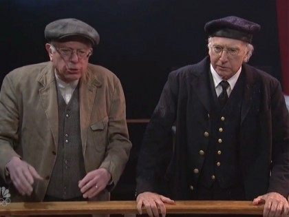 Watch: Bernie Sanders Appears in 'SNL' Skit Alongside Larry David, Talks Democratic Socialism