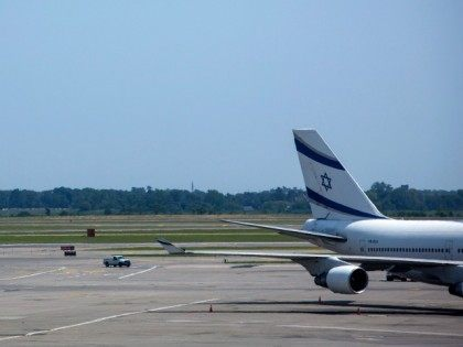 NEW YORK - JULY 22: An El Al Airlines plane is seen at Terminal 4 at John F. Kennedy Airport in New York. The Federal Aviation Administration halted all flights from the United States to Tel Aviv following a rocket attack near Ben Gurion International Airport(Photo by Eric Thayer/Getty Images)