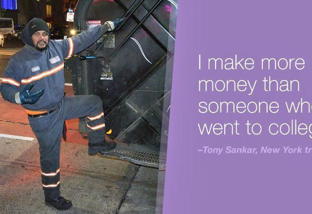 garbage worker CNN Money