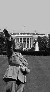 Trump as Nazi (Tim McAtee / The Collegian)