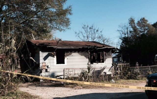 Burned out shell is all that remains of home after fire that killed four Florida children. No smoke detector was found inside the home. (Photo: Breitbart Texas/Rob Milford)