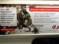 anti-Israel poster campaign London underground