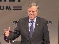 Jeb: Imagine My Dad or Brother 'Shouting Out Obscenities in Front of Children'