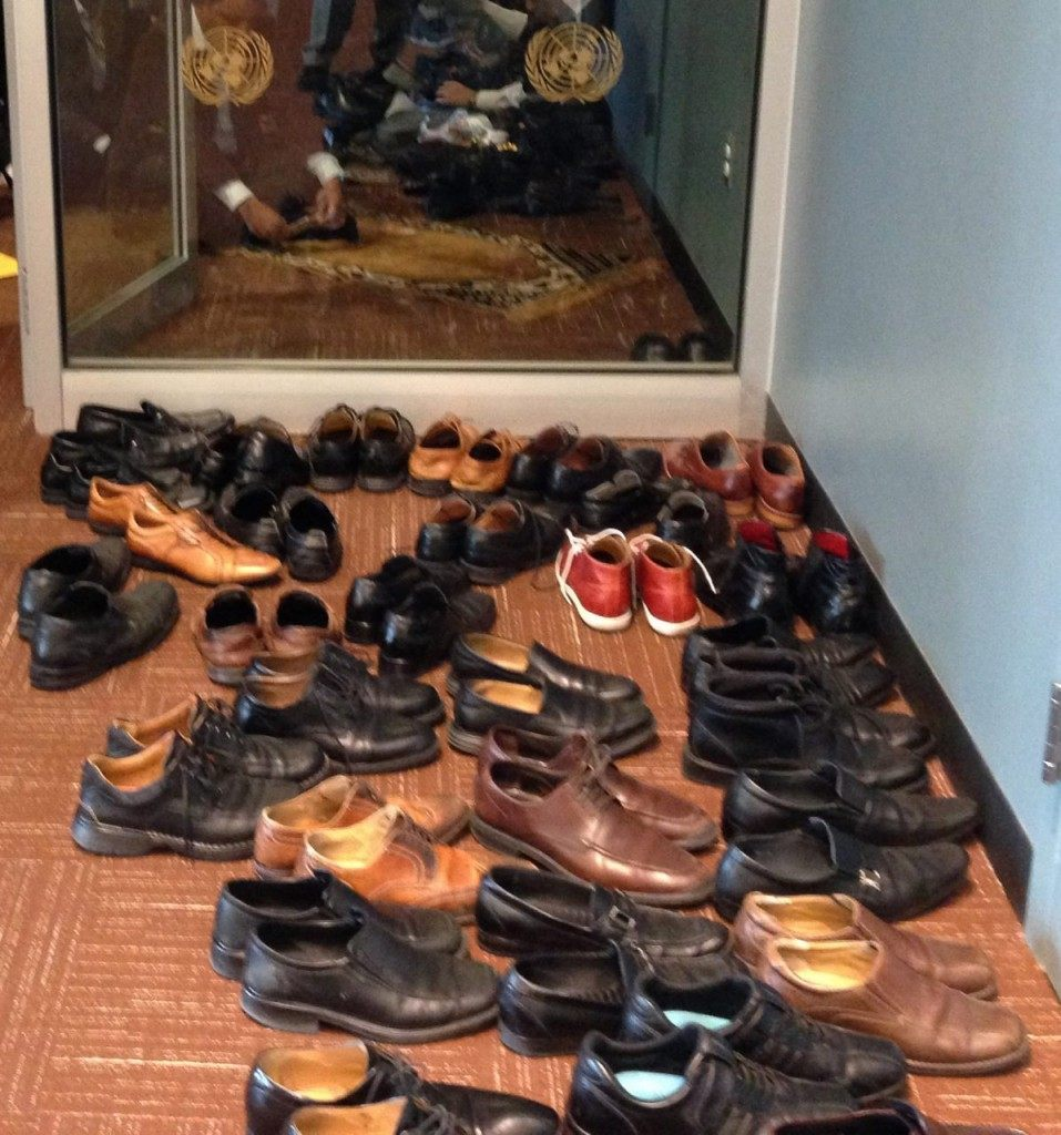 Shoes in Area Outside UN General Assembly Hall (Human Rights Voices / Breitbart News)