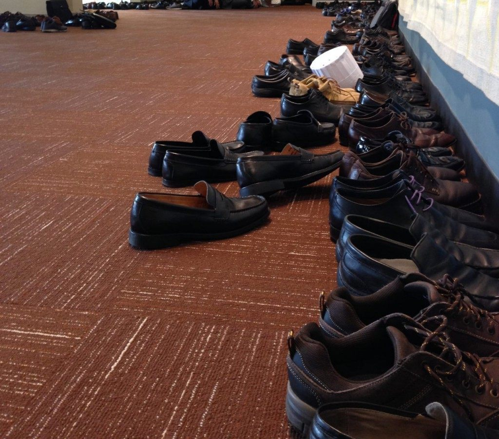 2 Shoes in Area Outside UN General Assembly Hall (Human Rights Voices / Breitbart News)