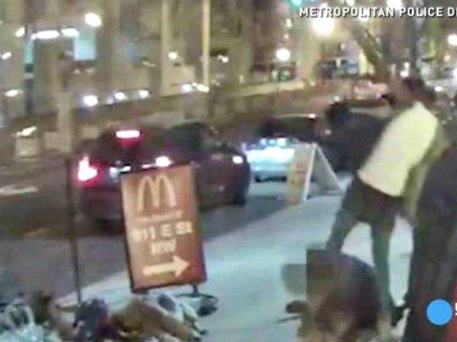 surveillance video Marine beating Metropolitan Police Dept