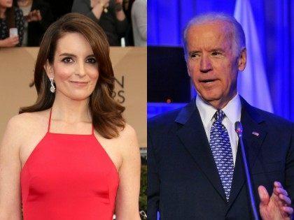Tina Fey and Joe Biden