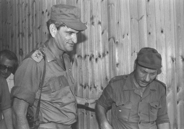 """War hero Avigdor """"Yanush"""" Ben-Gal IN 1973."""