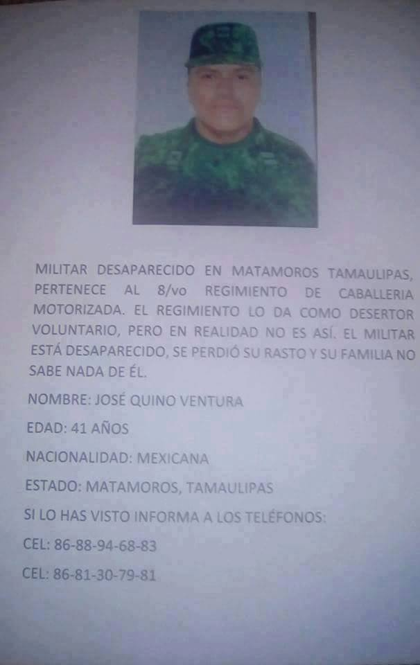 Missing Mexican Soldier