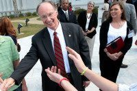 Robert Bentley and Rebekah Caldwell Mason, an adviser, in Montgomery, Ala., in 2011. Credit Dave Martin/Associated Press