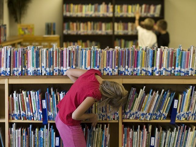 **ADVANCE FOR MONDAY, DEC. 7** This Aug. 24, 2009 photo shows students browsing thropugh books at Reserve Elementary School in Reserve, N.M. Catron County received $6.5 million this year from a federal timber program that has morphed into a sprawling entitlement, but locals say the money is needed in an …