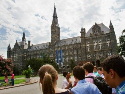 prospective students tour Georgetown University's campus in Washington. The nation's college and university endowments, often used to fund scholarships and professorships, had strong growth in 2013, according to a report released Jan. 28, 2014. That's a bit of good news for higher education institutions under pressure to hold down tuition …