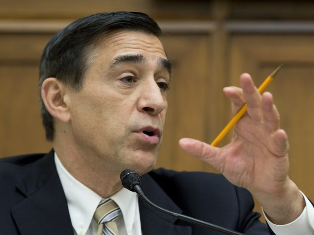 """Rep. Darrell Issa, R-Calif., speaks during the House Judiciary Subcommittee on Regulatory Reform, Commercial, and Antitrust Law oversight hearing on """"Competition in the Video and Broadband Markets: Proposed Merger of Comcast and Time Warner Cable"""", on Capitol Hill in Washington, Thursday, May 8, 2014. (AP Photo/Carolyn Kaster)"""