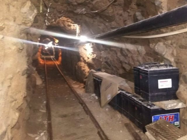 This Wednesday, Oct. 21, 2015 photo released by Mexico's Federal Police shows an underground tunnel that police say was built to smuggle drugs from Tijuana, Mexico to San Diego in the United States. Mexican federal police said the tunnel extends about 2,600 feet (800 meters) and is lit, ventilated, equipped …