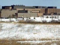 Buildings are visible on the campus headquarters of Abbott Laboratories February 10, 2004 in Abbott Park, Illinois.