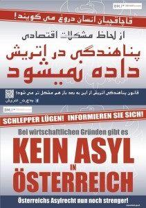 Austria Asyl posters