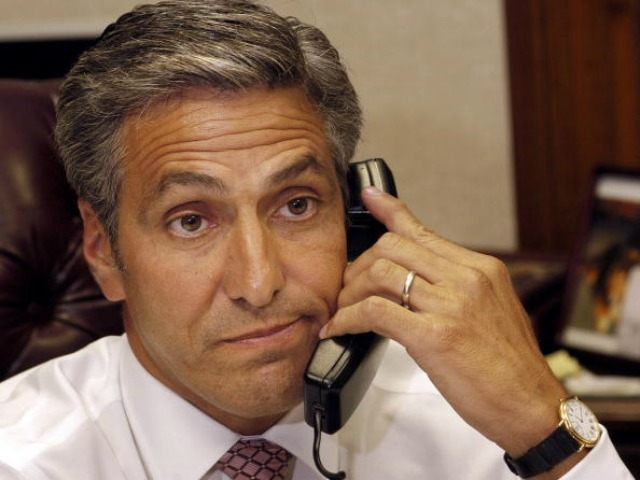 Hazleton Mayor Lou Barletta chats on the telephone in his office June 21, 2006 in Hazleton.