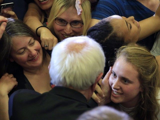 Bernie Sanders groupies (John Locher / Associated Press)