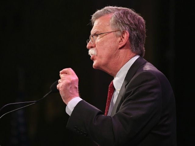Former Ambassador to the United Nations John Bolton speaks to guests at the Iowa Freedom Summit on January 24, 2015 in Des Moines, Iowa.
