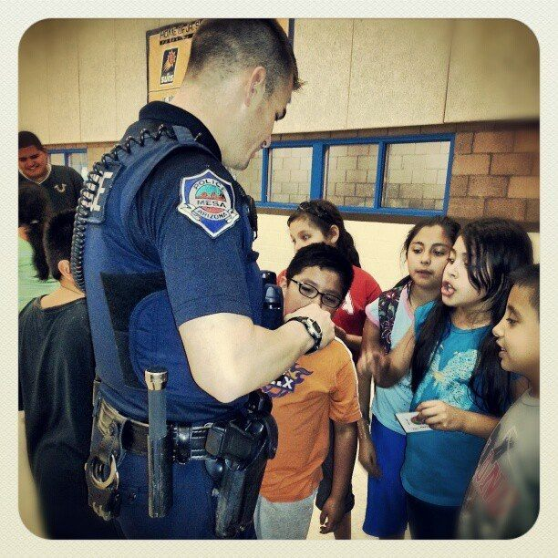 Sgt. Brandon Mendoza at Boys and Girls Club