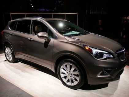 The 2016 Buick Envision crossover SUV, January 10th, 2016 in Detroit, Michigan. The Envision will be built in China and sold in the United States.