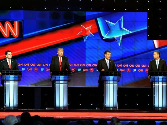 CNN R Debate Stage Rhona WiseGetty