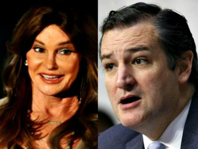 Caitlin Jenner, Ted Cruz AP