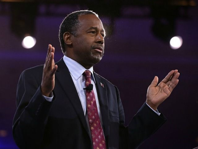 Republican presidential candidate Ben Carson speaks during CPAC 2016 March 4, 2016 in National Harbor, Maryland.