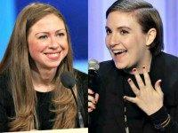 Chelsea Clinton and Lena Dunham