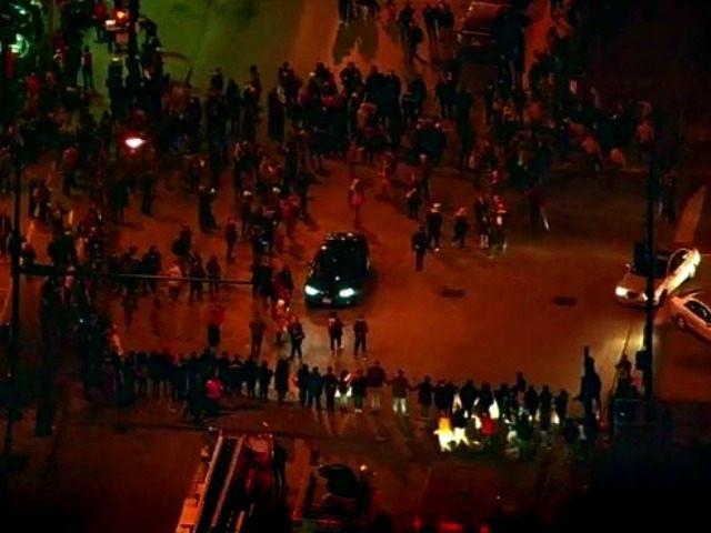 Crowds Outside Trump Rally CBS