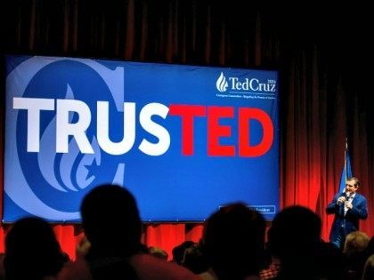 OVERLAND PARK, KS - MARCH 02: Republican presidential candidate, Sen. Ted Cruz (R-TX) holds a campaign rally ahead of the Kansas caucuses on March 02, 2016 in Overland Park, Kansas. Cruz is coming off wins in Texas, Oklahoma and Alaska in yesterday's Super Tuesday. (Photo by Kyle Rivas/Getty Images) *** …