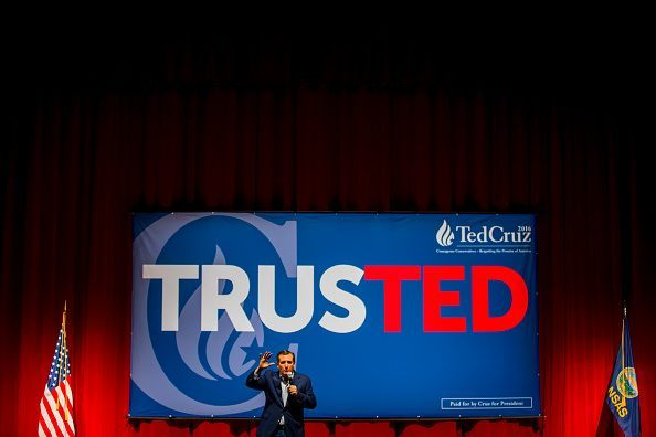 Republican presidential candidate, Sen. Ted Cruz (R-TX) holds a campaign rally ahead of the Kansas caucuses on March 02, 2016 in Overland Park, Kansas.