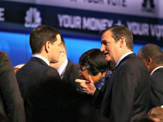 Cruz and Rubio post-debate