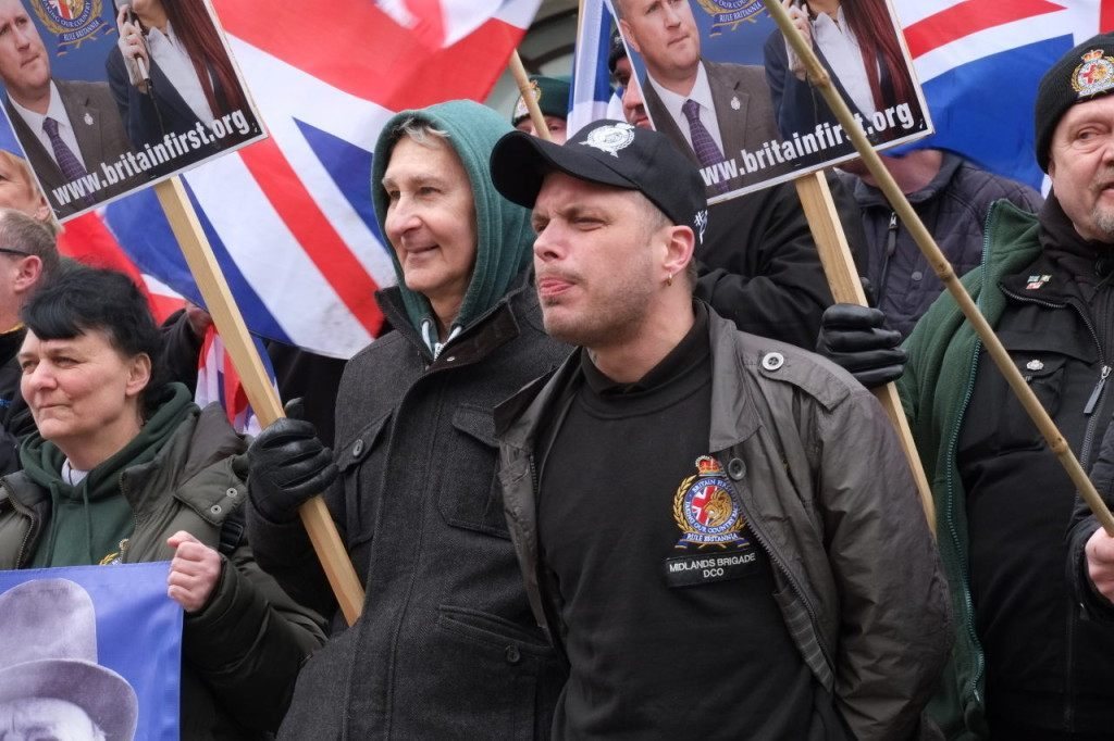 Britain First staged a counter-demonstration (Rachel Megawhat/Breitbart London)