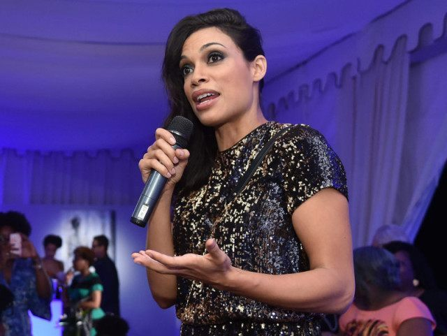 MIAMI BEACH, FL - DECEMBER 04: Rosario Dawson speaks onstage at The 6th Annual Bombay Sapphire Artisan Series Grand Finale Cohosted By Russell Simmons And Rosario Dawson During Art Basel at Nautilus Hotel on December 4, 2015 in Miami Beach, Florida. (Photo by Mike Coppola/Getty Images for Bombay)