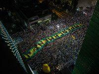 SAO PAULO, BRAZIL - MARCH 16: Demonstrators protest for the impeachment of President Dilma Rousseff and also against corruption being investigated involving resource diversion and money laundering in Petrobras scandal of corruption on March 16, 2016, in Sao Paulo, Brazil. Former President Luiz Inacio Lula da Silva had his temporary …
