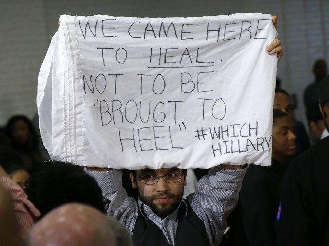 Hillary protest black voter (Gerald Herbert / Associated Press)