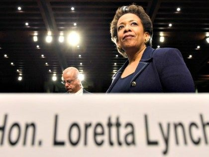 Attorney General nominee Loretta Lynch returns to Capitol Hill in Washington, Wednesday, Jan. 28, 2015, to testify after a short break of the Senate Judiciary Committee's hearing on her nomination. If confirmed, Lynch would replace Attorney General Eric Holder, who announced his resignation in September after leading the Justice Department …