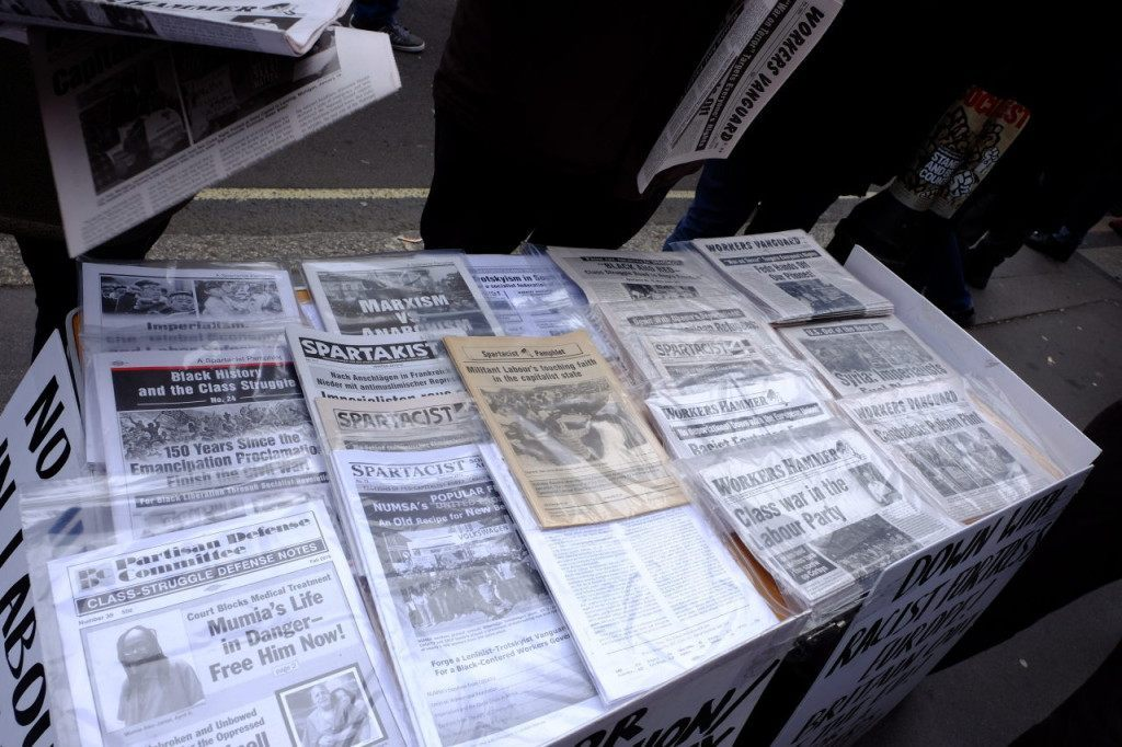A far left news stand (Rachel Megawhat/Breitbart London)